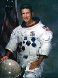 James Irwin in Apollo spacesuit