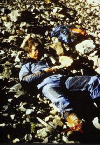 Jim Irwin on Ararat, 1982, injured from a fall