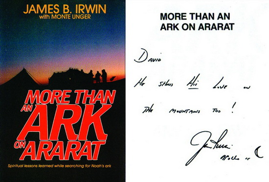 Irwin book on Mt Ararat with autograph