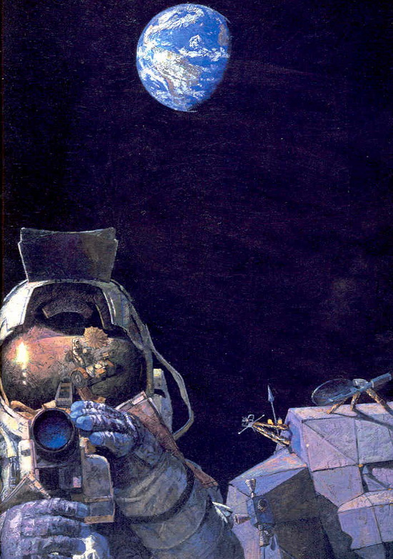 "Jim Irwin in ""Moon Rovers"" by Alan Bean"