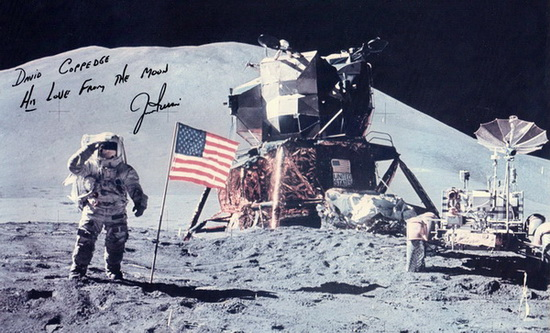 Autographed photo of James Irwin, Apollo 15