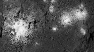 Ceres bright spots in Occator Crater